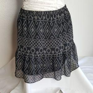 🍬Madewell black & tan linned mini skirt size S